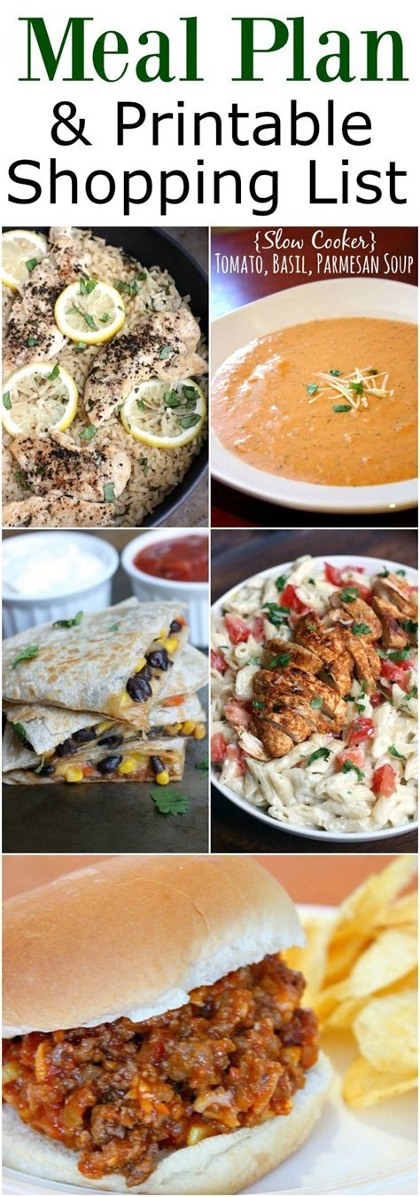 printable easy dinner recipes best 25 shopping lists ideas on pinterest diet grocery