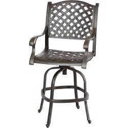 Patio Bar Stools Darlee Nassau Cast Aluminum Patio Swivel Bar Stool