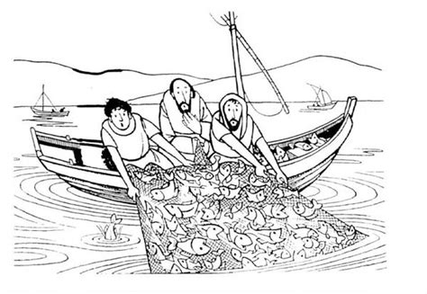 jesus fishing boat coloring page miraculous catch fish coloring pages