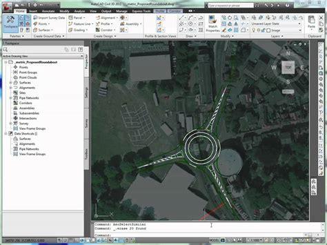 Autocad Civil 3d Roundabout Layout Tool Doovi Autocad Roundabout Templates