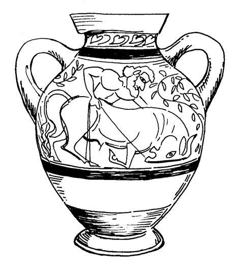 vaso greco da colorare free coloring pages of ancient vase