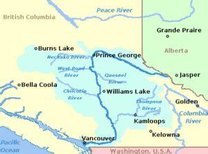 fraser river on map of canada fraser valley