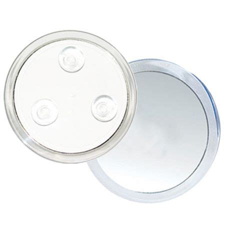 suction cup mirror bathroom rucci m724 10x magnification acrylic 3 suction cup