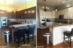 Kitchen Cabinets Before And After Painting kitchen cabinet painting cream cabinets before and after bella tucker