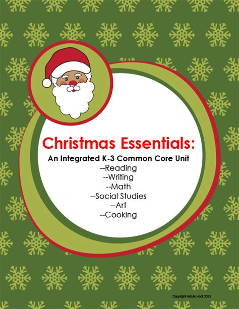 christmas essentials an integrated k 3 common core unit