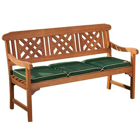 3 seater wooden bench robert dyas fsc 3 seater garden fence bench