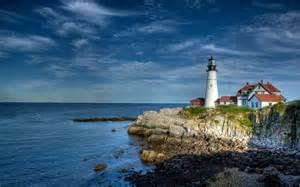 light house sea lighthouse hdr cape elizabeth wallpaper 2560x1600