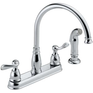 ferguson faucets kitchen d21996lf windemere two handle kitchen faucet chrome at shop ferguson