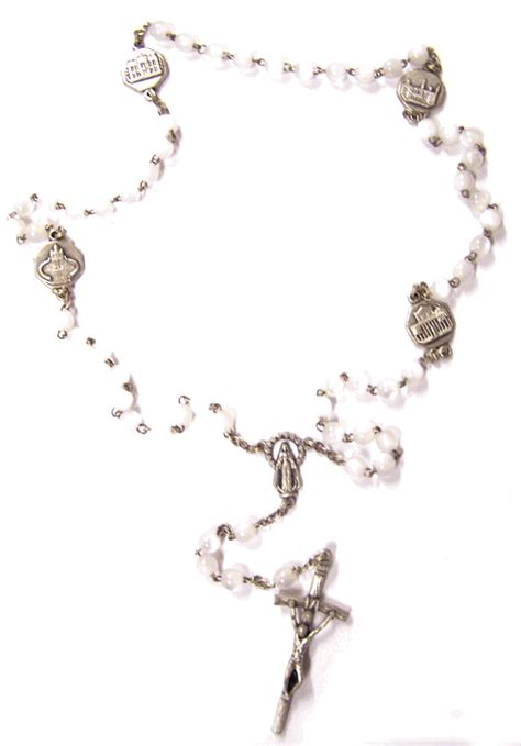 luminous rosary 4 basilica pearlized rosary from italy with free