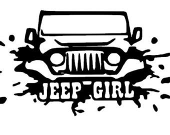 jeep stickers for girls wrangler decals etsy