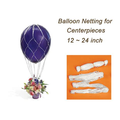 air balloon centerpieces gold balloon netting for diy air balloon table