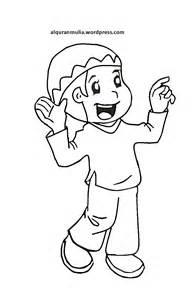 mewarnai gambar kartun anak muslim 27 alqur anmulia