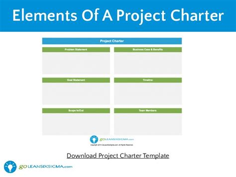 Project Charter Template Ppt Bestsellerbookdb Project Six Sigma Project Charter Template Ppt
