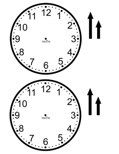 Make Paper Clock - ins pi re math make your own class set of clocks