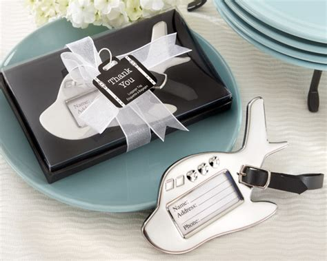 airplane luggage tag in gift box with suitcase tag - Airplane Giveaways