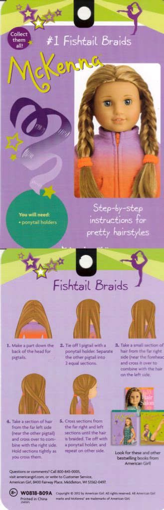 Hairstyle Books For Dolls by Mckenna S Hair Styles American Dolls Photo