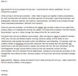 Sample letter of recommendation for students wanting to enter a