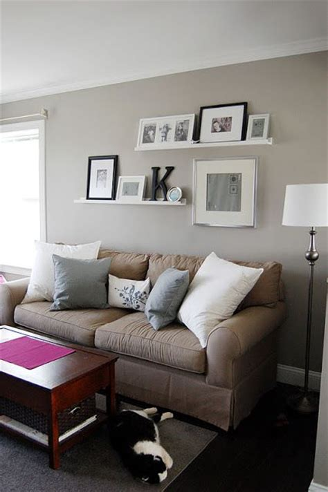 pictures above couch crafty teacher lady shelves and frames home pinterest