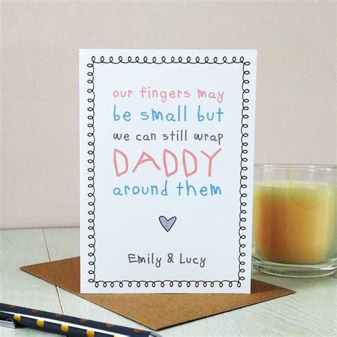 Fingers May Be Small But Cute Daddy Card By Cloud