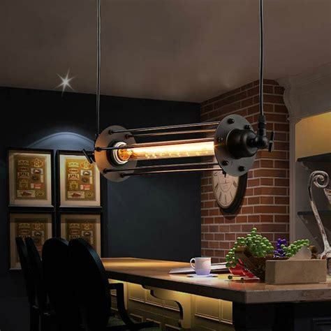 Lukloy Industrial Retro Vintage Chandelier Flute Light Kitchen Bar Lighting