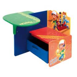 Disney Desk And Chair With Storage Bin Disney Handy Manny 2 In 1 Desk Chair Inc Textile