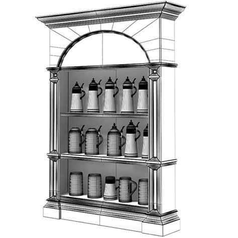 beer stein display cabinet 3d beer stein display cabinet model