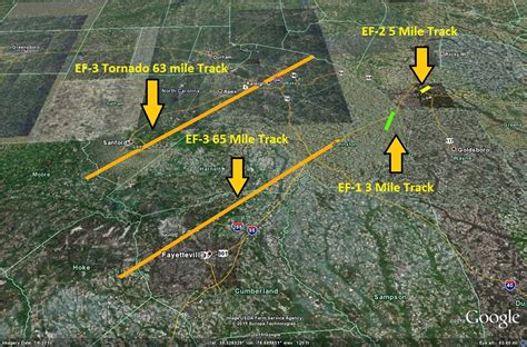 sanford track today marks 4 year anniversary of historic nc tornado outbreak
