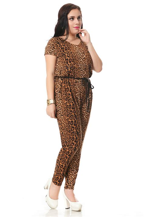 Jumpsuit Cotton Motif leopard print v neck cotton jumpsuit uniqistic