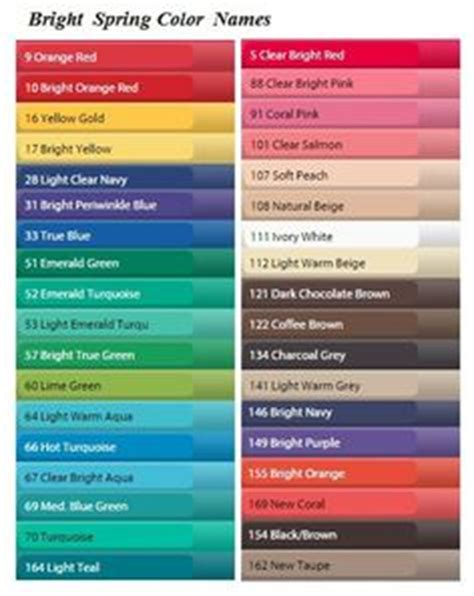 cool color names bright spring color names the bright spring color