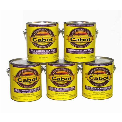 cabot solid color oil deck stain  series capitol