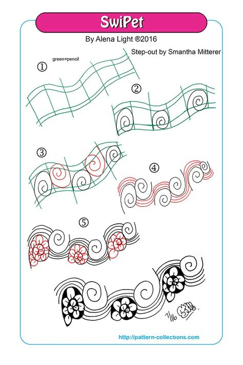 doodle erika zentangle pattern steps how to draw a collection of