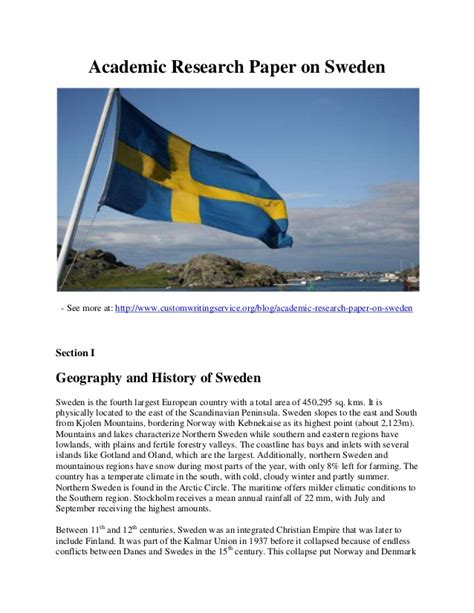 Academic Research Papers Topics by Academic Research Paper On Sweden