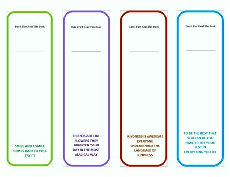 Publisher Bookmark Template Free