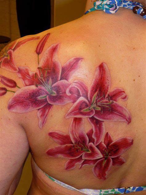 stargazer lily tattoos stargazer lilies on s back cool tattoos