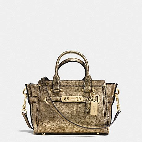 Coach Swagger Mini Colour Varian coach f35990 coach swagger 20 in metallic pebble leather
