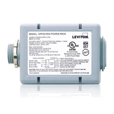 leviton automatic light switch manual leviton 20 amp power pack for occupancy sensors auto on