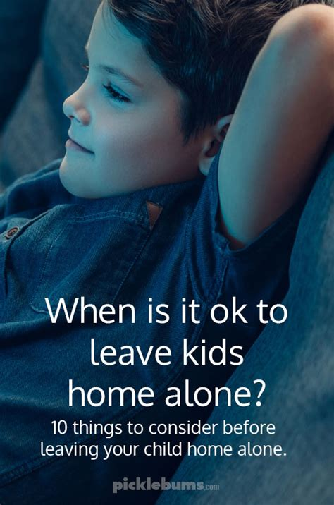 leaving home alone ten things to consider before leaving your child home alone