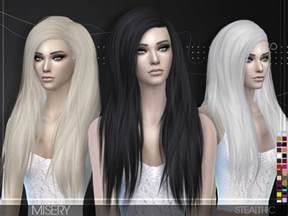 sims 4 hair misery female hair by stealthic at tsr 187 sims 4 updates