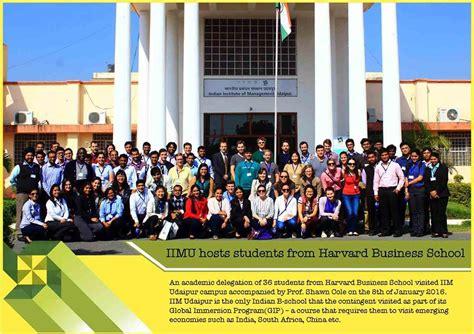 Harvard Mba Visit by Delegation From Harvard Visits Iim Udaipur