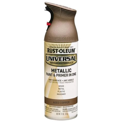 shop rust oleum universal universal aged copper metallic enamel spray paint actual net contents