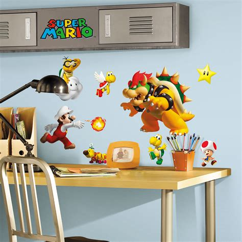 Boy Bedroom Ideas roommates wandsticker wandtattoo super mario www 4 haen de