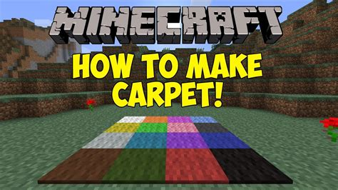 how to make a rug minecraft how to make carpet 1 6 1