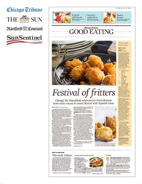 chicago tribune food section tori avey in the tribune newspapers chase ink public