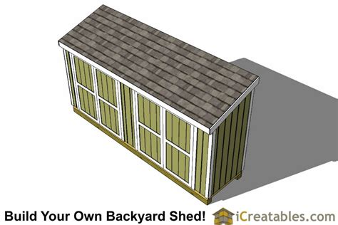 4x8 Lean To Shed by 4x16 Lean To Shed Plans 4x16 Storage Shed Plans