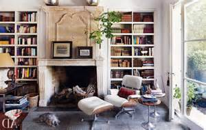 living room decoration ideas with library