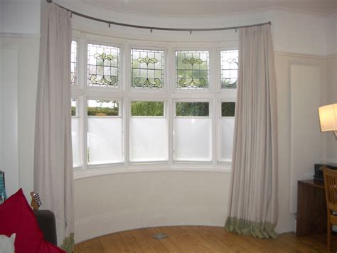 Bow Window Curtains Curtain Amazing Bow Window Curtain Rods Curved Rods For
