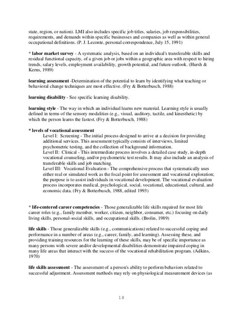 sle of evaluation report vocational evaluation report sle 28 images glossary of