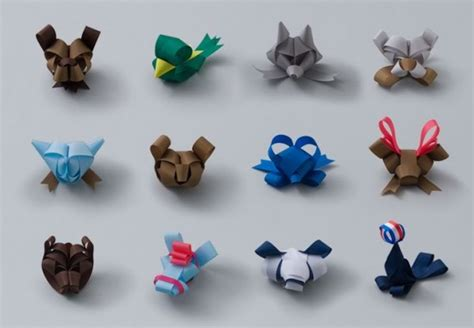 how to make folded ribbon animals ribbons to become various animals 1 design per day