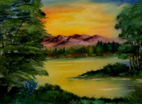 bob ross painting classes indiana lamont beagle memory of bob ross alive