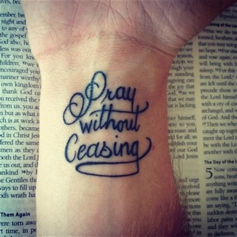 pray tattoo on wrist best 20 pray without ceasing ideas on